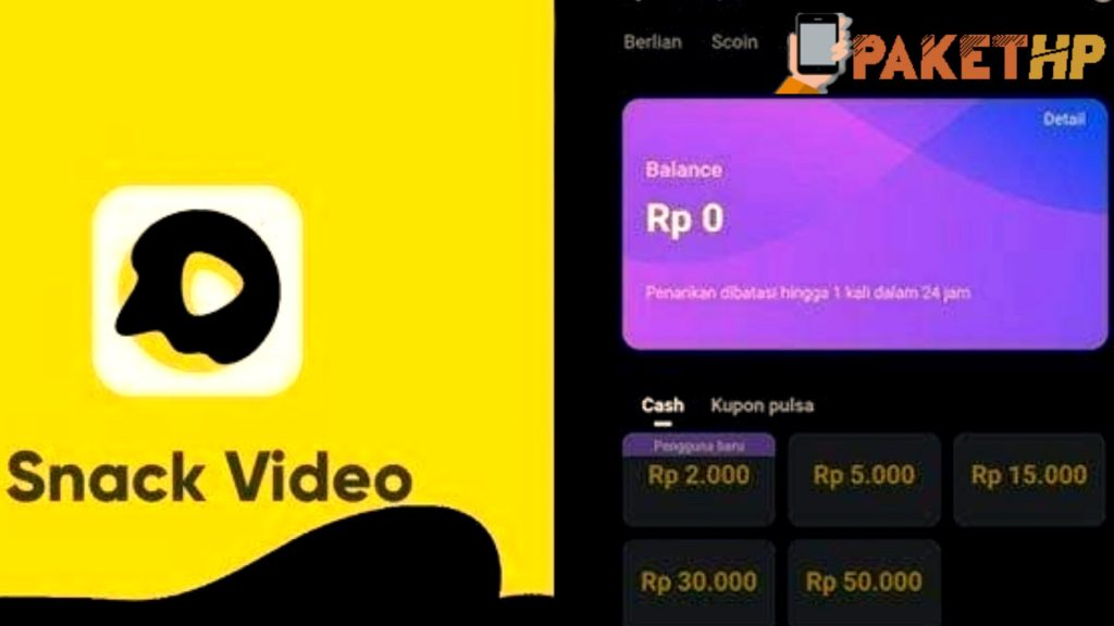 Aplikasi Pengehasil Uang Snack Video Yang Sedang Trend 2021